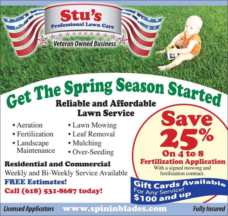 Stu's Professional Lawn Care Spring 2015 Coupon