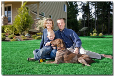 Caseyville Illinois (IL) Happy family uses Stu's Professional Lawn Care Service